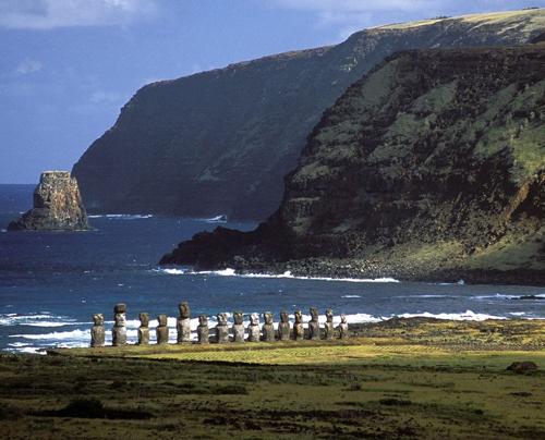 Каменные статуи на острове Пасхи