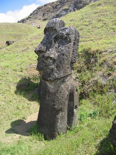 Каменные головы на острове Пасхи