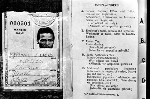 документы при апартеиде