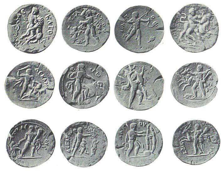 подвиги геракла на монетах
