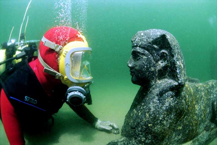 фотографии города под водой