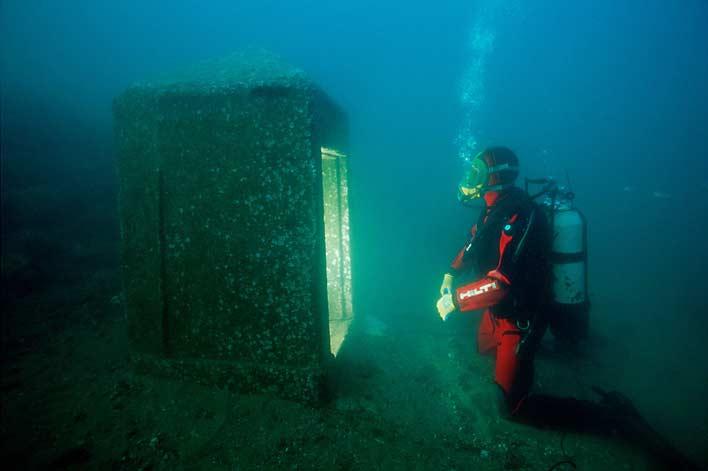 раскопки города под водой