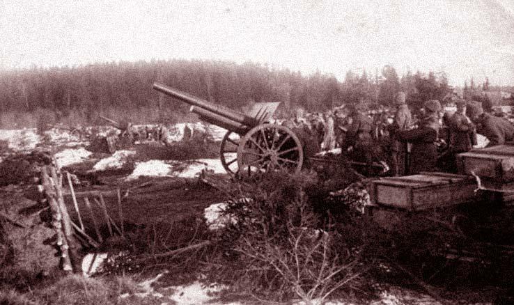 артиллерия с севера от кронштадта