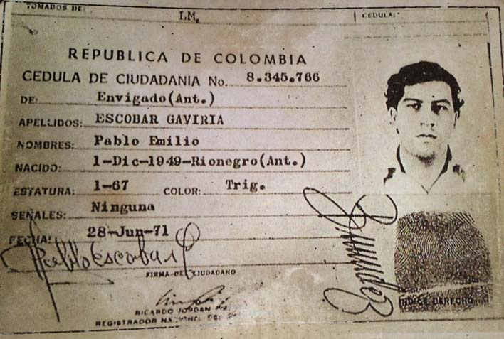 документы Пабло Эскобара