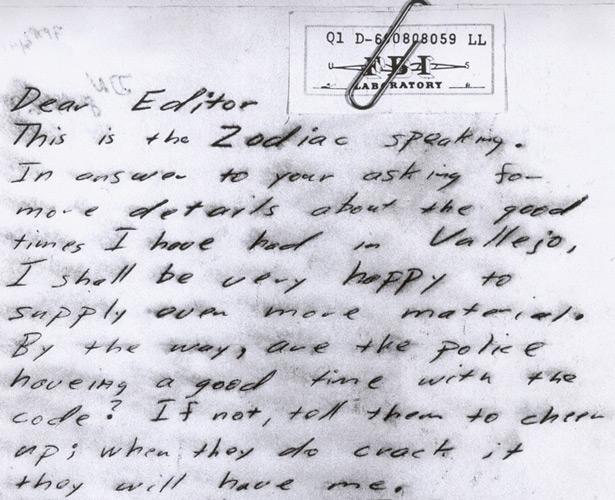 письмо убийцы Зодиака