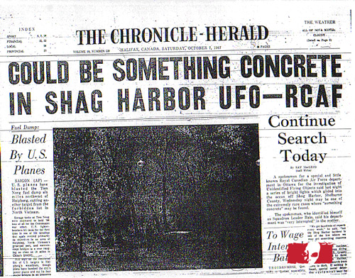 shag harbor ufo newspaper