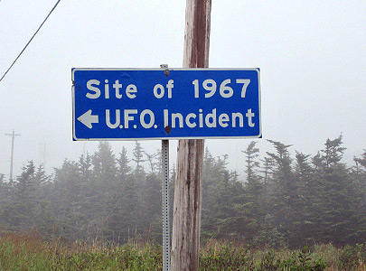 shag harbor ufo sign