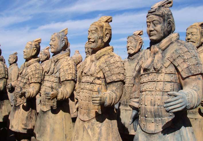 каменные солдаты терракотовой армии