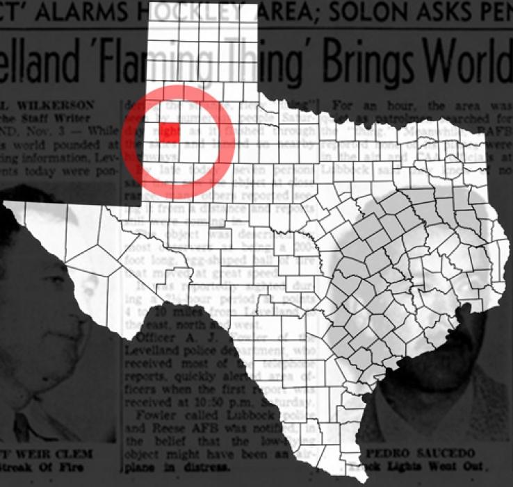НЛО над Ливлендом (Техас, США), 1957 г.