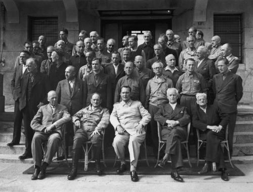 Высокопоставленные нацистские чиновники и военные офицеры в отеле Палас, г. Мондорф