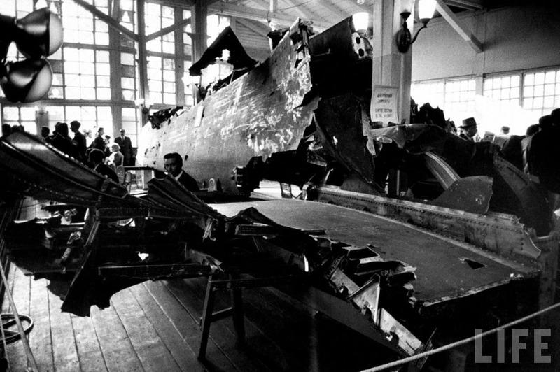 Обломки сбитого самолета-шпиона