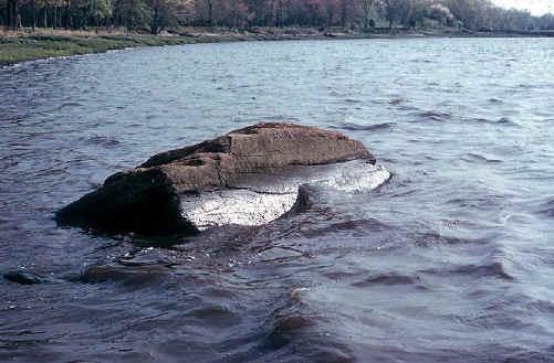 Дайтон Рок во время прилива. Фото 1963 года