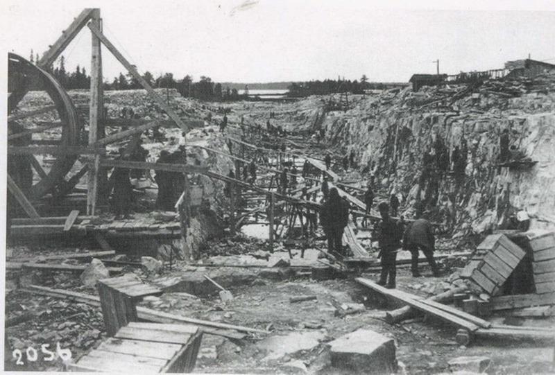 Узники Гулага на строительстве Беломорканала