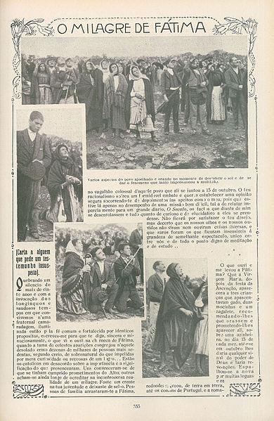 Статья о Фатимском Чуде в португальской газете. 1917 год