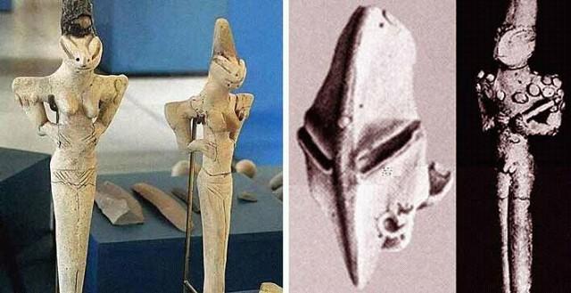 Древние статуэтки людей-ящеров
