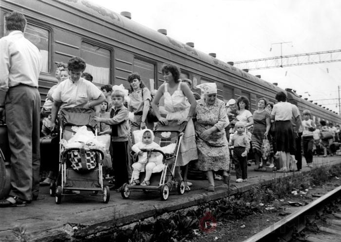 Эвакуация в Припяти