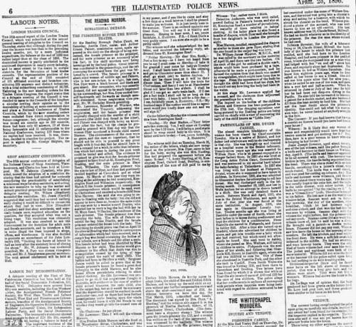 """Статья о преступлениях Амелии Дайер в газете """"Иллюстрейтед полис ньюс"""", 1896 г."""