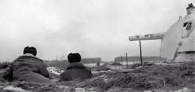Танк Т-34 на дальних подступах к столице