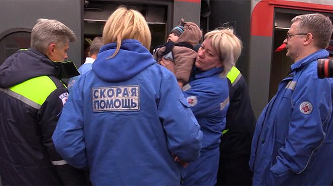 Доктор Лиза и дети с Донбасса в Москве