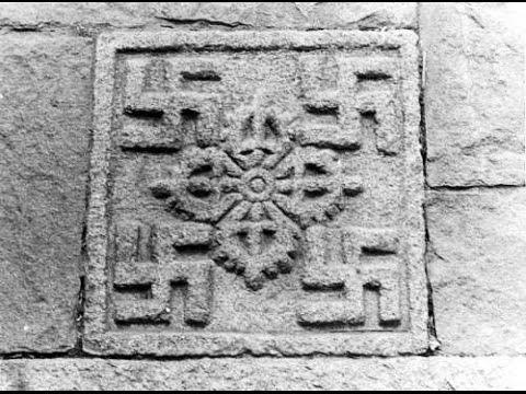 Древняя свастика. Тибет.