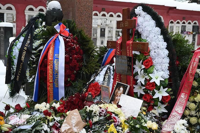 Могила Е. П. Глинки на Новодевичьем кладбище
