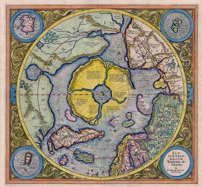 Арктида. Карта 1595 года