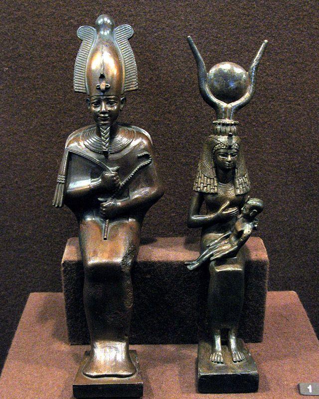 Боги Исида и Осирис