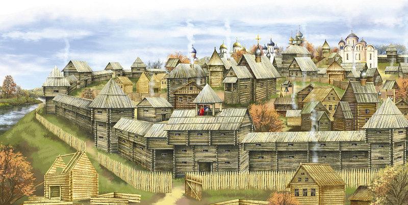 Вид Древнерусского города