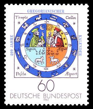 Григорианский календарь, изображение 1586 года