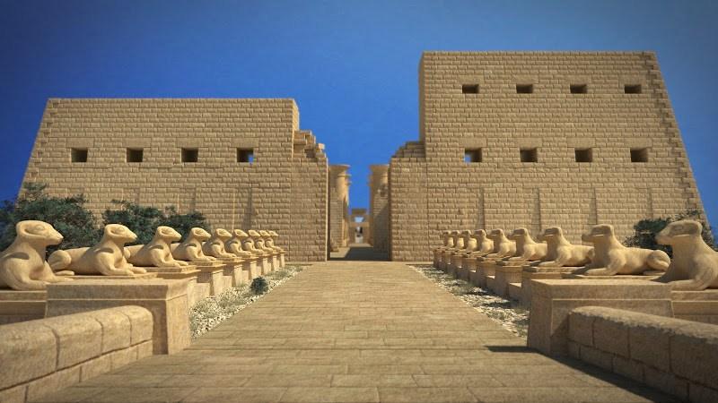 Карнакский храм. Фронтальная часть