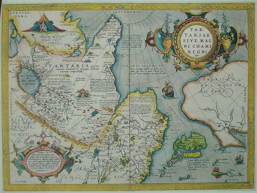 Карта Тартарии, 16 век