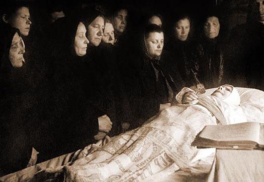 Похороны Блаженной Матроны Московской. 2 мая 1952 года