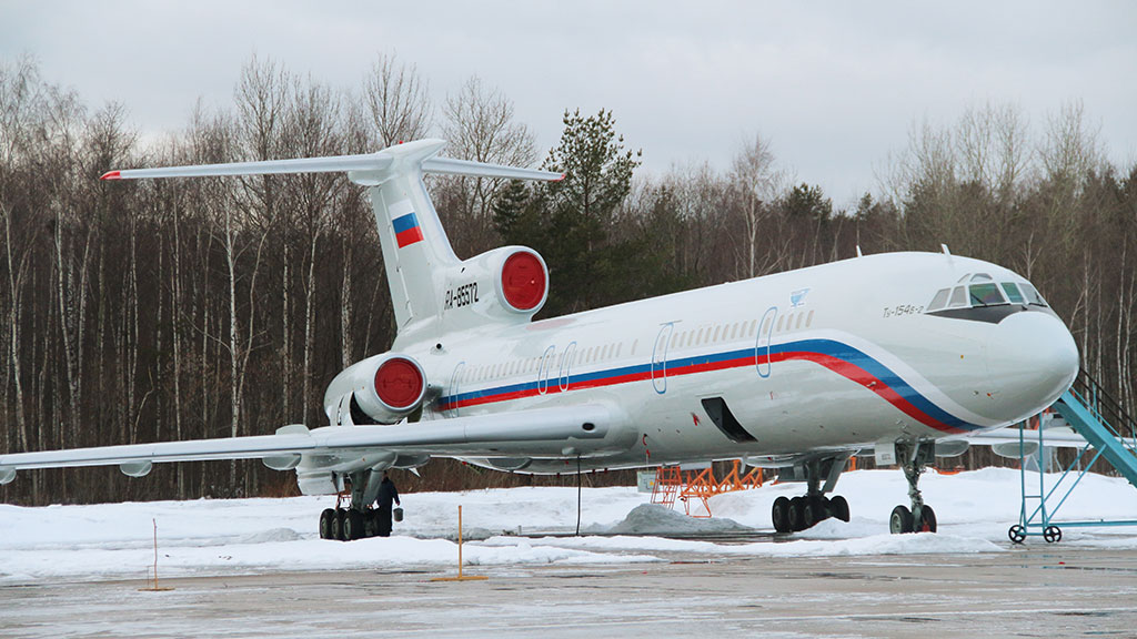 Самолет ТУ 154, аналог потерпевшего крушение