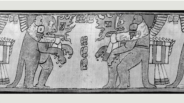 Древние рисунки майя