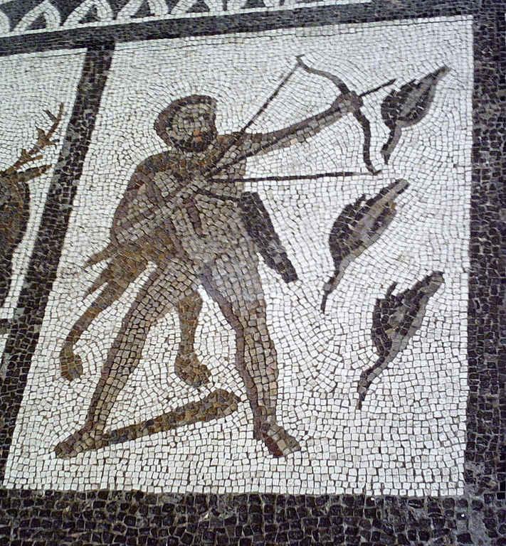 Изгнание Стимфалийских птиц. Древняя мозаика