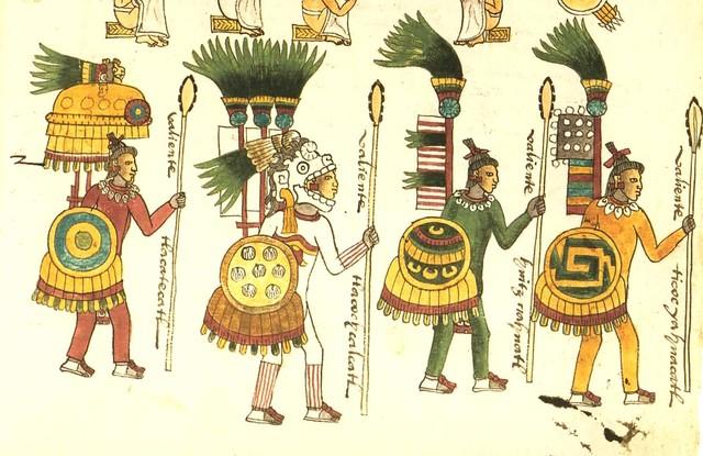 Одежда и украшения воинов-ацтеков