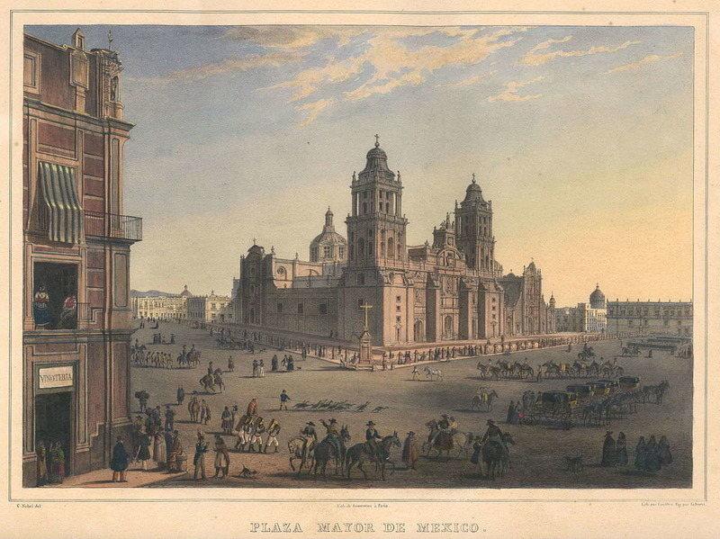 Площадь Пласа-Майор в городе Мехико (Мексика). Место, где появился Хиль Перес