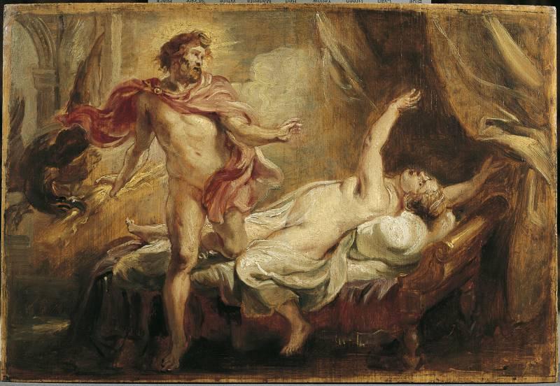 Смерть Семелы. Картина Рубенса 1640 год