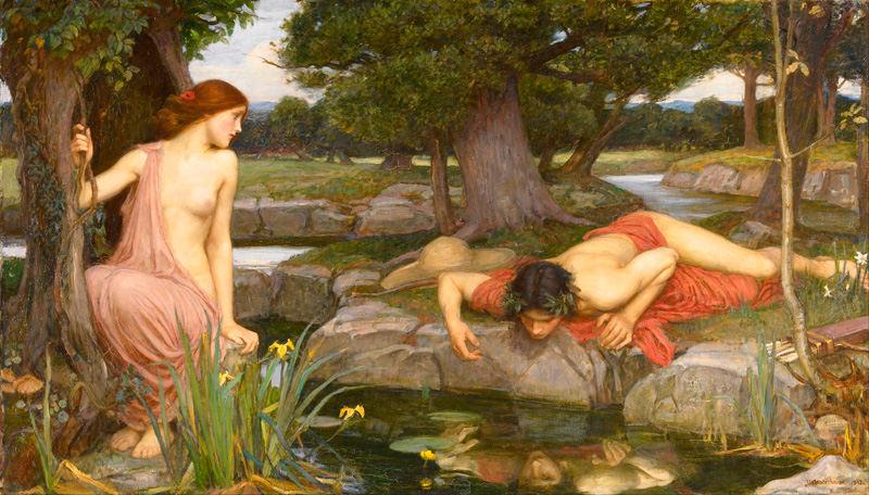 Эхо и Нарцисс. Джон Уильям Уотерхаус. 1903 год
