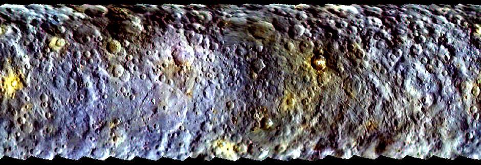 Пятна на Церере. Увеличенное изображение
