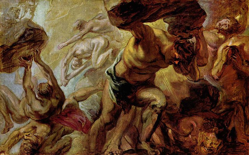 Зевс свергает Крона